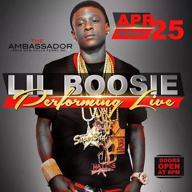 Lil Boosie To Perform April 25th at The Ambassador (Confirmed by Club Management )