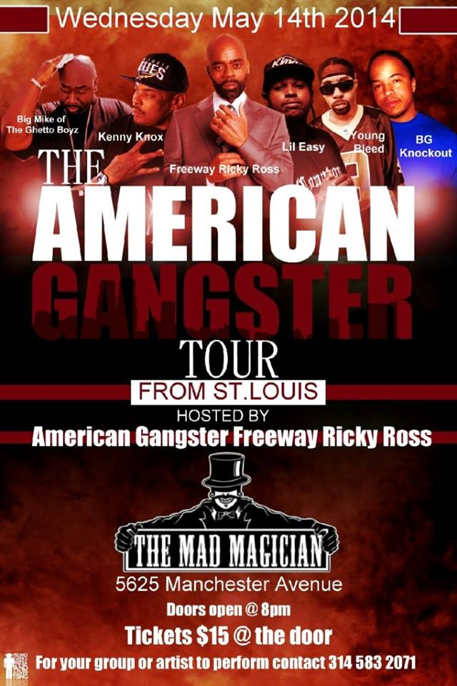 #AGTOURr W/ The Real Rick Ross @FreewayRicky  & Big Mike@IAmBigMike1 St.Louis May 14th
