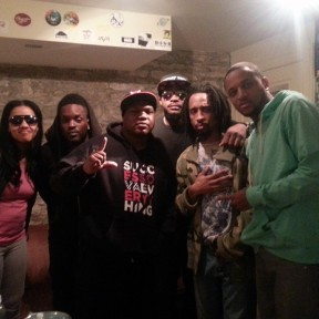 Louisville Legends Nappy Roots backstage with Sheba Shane, Spita, Junior Jackson, and Stlhiphops Dj Whobeta