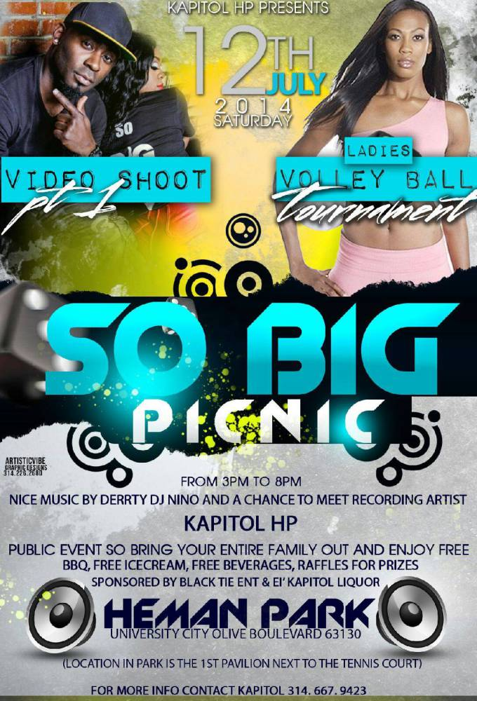 HIP HOP ARTIST KAPITOL ( @KAPITOLHP ) SO BIG PICNIC JULY 12TH IN U-CITY