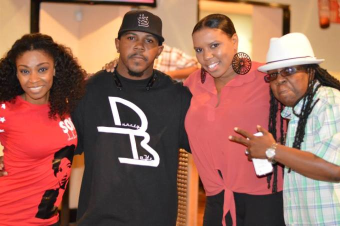 D Woods with Dj Rail Jp and her  Manager Alima