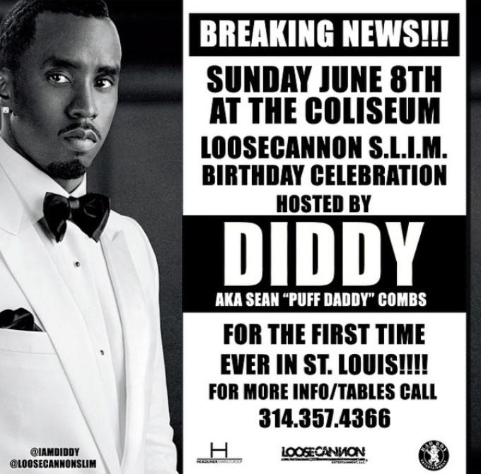 BREAKING NEWS HIP HOP MOGUL DIDDY IN ST.LOUIS JUNE 8TH